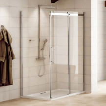Aquafloe™ Elite ll 8mm 1200 x 800 Frameless Sliding Door Shower Enclosure
