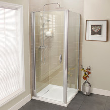 Aquafloe™ Iris 8mm 900 Hinged Shower Enclosure