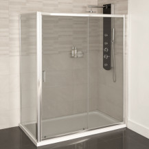 Aqualine™ 4mm 1400 x 700 Sliding Door Shower Enclosure
