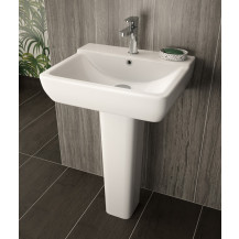 Hudson Reed™ Arlo 550mm Basin & Pedestal, One Tap Hole