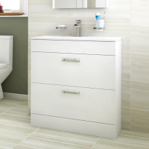 Aspen™ Compact 700 Floor Mounted 2 Drawer Vanity Unit