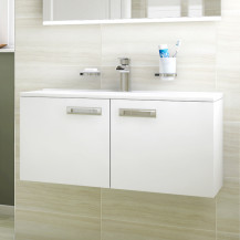 Aspen™ Compact 800 Wall Mounted 2 Door Vanity Unit