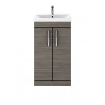 Premier Athena Grey Avola 500mm Floor Standing 2-Door Vanity With Mid-Edge Basin