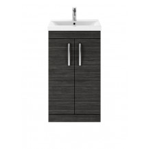 Premier Athena Hacienda Black 500mm Floor Standing 2-Door Vanity With Minimalist Basin