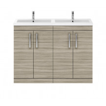 Premier Athena Driftwood 1200mm Floor Standing Double Door Vanity Unit