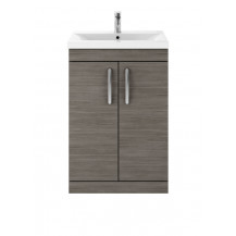 Premier Athena Grey Avola 600mm Floor Standing 2-Door Vanity With Minimalist Basin