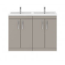 Premier Athena Stone Grey 1200mm Floor Standing Door Cabinet & Double Basin