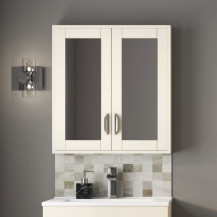 Nottingham Ivory Mirrored Cabinet