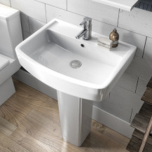 Premier Bliss 520mm One Tap Hole Basin & Semi Pedestal