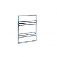 Ravello 800 x 500 Chrome Towel Rail