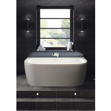 Hudson Reed Pearl Back To Wall Bath and Panel