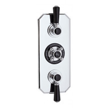 Hudson Reed Black Topaz Triple Concealed Shower Valve With Diverter
