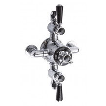 Hudson Reed Black Topaz Triple Exposed Shower Valve