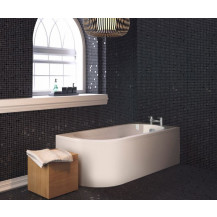 Portland 1700 x 725 J Shaped Right Hand Bath with Front Panel