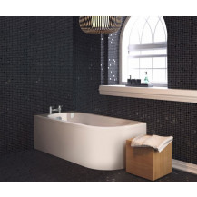 Portland 1700 x 725 J Shaped Left Hand Bath with Front Panel