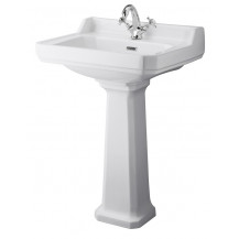 Hudson Reed Richmond 600mm One Tap Hole Basin & Comfort Height Pedestal