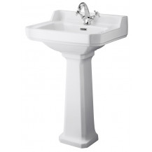 Hudson Reed Richmond 560mm One Tap Hole Basin & Comfort Height Pedestal