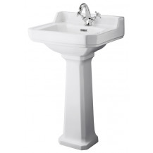 Hudson Reed Richmond 500mm One Tap Hole Basin & Comfort Height Pedestal