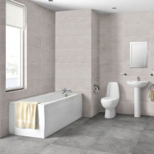 1700 Cova Complete Bathroom Suite with Taps and Waste