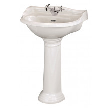 Hudson Reed Chancery 600mm One Tap Hole Basin & Pedestal