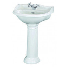 Hudson Reed Chancery 500mm One Tap Hole Basin & Pedestal