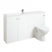 Darcey Matt White Left Hand Combination Unit 1500mm