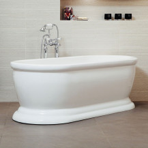 Traditional 1700 x 740 Double Ended Freestanding Bath