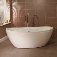 Duo 1750 x 840 Freestanding Oval Bath