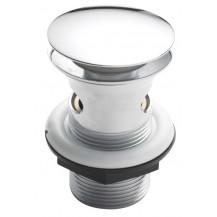 Hudson Reed Push Button Basin Waste White/Chrome