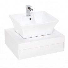 Barletta 600 Wall Mounted Basin Vanity Unit with Basin Mixer Tap