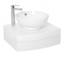 Kendra 600 Wall Mounted Basin Vanity Unit	with Basin Mixer Tap