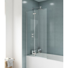 Premier Ella Straight Hinged 5mm Bath Screen