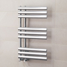 Finesse Designer 800 x 450mm Chrome Heated Towel Rail