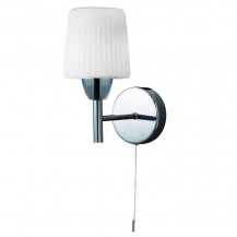 Veva Chrome Wall Light With White Shade