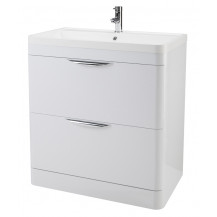 Premier Parade 800mm Floor Standing 2 Drawer Basin & Cabinet
