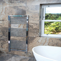 Genoa 1300 x 500 Chrome Towel Rail