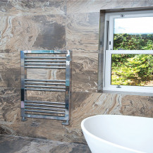 Genoa 900 x 500 Chrome Towel Rail