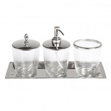 Glass Bathroom Accessory Pack
