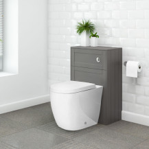 Nottingham Grey WC Unit & Venus Back to Wall Toilet