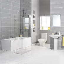 Tabor™  1700 Bathroom Suite Including Taps and Waste