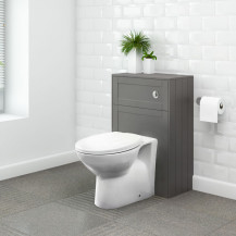 Nottingham Grey WC Unit with Sofia Back to Wall Toilet
