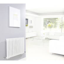 Hudson Reed Revive Single Panel Designer Radiator High Gloss White 633x826