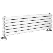 Hudson Reed Horizontal Revive Double Panel Designer Radiator High Gloss White 1800x354 mm