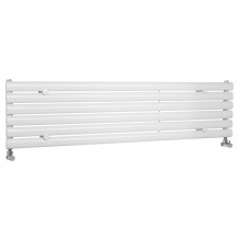 Hudson Reed Horizontal Revive Single Panel Designer Radiator High Gloss White 1500x354