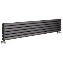 Hudson Reed Horizontal Revive Double Panel Designer Radiator Anthracite 1500x354 mm
