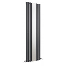 Hudson Reed Revive Single Panel Designer Radiator With Mirror Anthracite 1800x499