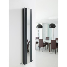 Hudson Reed Sloane Double Panel Designer Radiator Anthracite 1800x381