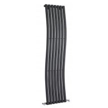 Hudson Reed Revive Wave Designer Radiator Anthracite 1785x413