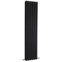 Hudson Reed Revive Double Panel Designer Radiator High Gloss Black 1500x354 mm