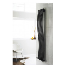 Hudson Reed Revive Wave Designer Radiator High Gloss Black 1785x413